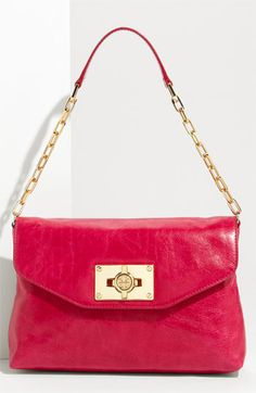 Tory Burch 'Brady' shoulder bag in fuschia.