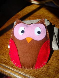 Lovely Little Soft Toy Owl for Baby or by RedWhiteandSpotty, $9.50