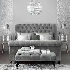 grey tufted bed - Google Search