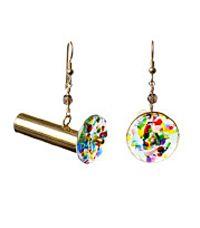 Kaleidoscope Earrings by Lori Riley.  American Made. 2013 Buyers Market of American Craft. americanmadeshow.com