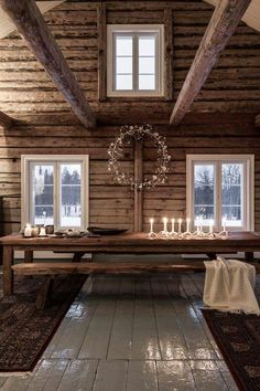 🌟Tante S!fr@ loves this📌🌟Ambiance cosy au sein d'un chalet en bois authentique Rustic House, Decor, House Interior, House, Cabins And Cottages, Cabin Decor, Cabin Living, Rustic Cabin, Home Decor