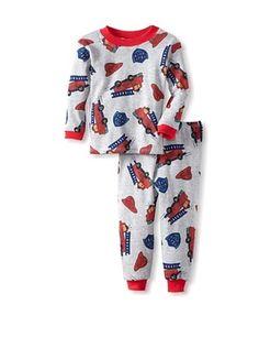69% OFF Mad Boy Baby 2-Piece Pajama Set (Big Red Fire Trucks)
