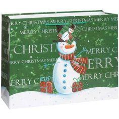 Large Snowman Christmas Gift Bag, Multicolor