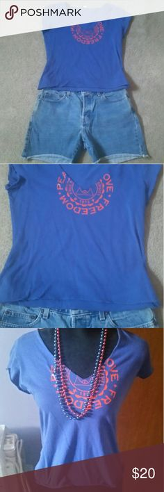 NWOT Crop Top A nice light crop top. Size medium. A nice blue color. Venus Tops Crop Tops