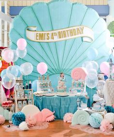 Prepare everything well and you will be proud of your masterpiece mermaid birthday party. These mermaid birthday party ideas down below will help you to Mermaid Theme Birthday, Little Mermaid Birthday, Little Mermaid Parties, Birthday Party Decorations, Birthday Parties, Birthday Ideas, Happy Birthday To Us, Under The Sea Party, Instagram