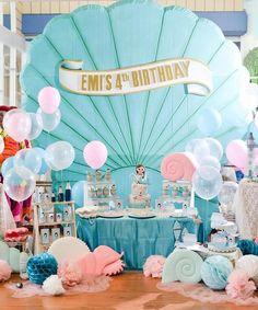Mermaid birthday party: