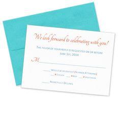 wedding response card size