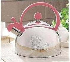 HELLO KITTY STOVE TOP WHISTLING TEA KETTLE PINK