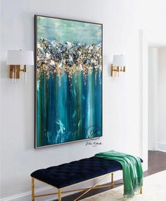 Landscape Abstract Painting Large Wall Art Dark Modern Art Original Painting Oil Painting Landscape Painting On Canvas by Julia Kotenko Abstract Art Abstract Art Canvas Dark Julia Kotenko Landscape Large Modern Oil Original Painting Wall Canvas Painting Landscape, Acrylic Painting Canvas, Abstract Landscape, Abstract Art, City Painting, Blue Painting, Art Feuille D'or, Grand Art Mural, Gold Leaf Art