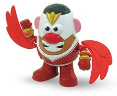 Sam Wilson faces his greatest challenge yet - being edible! (But it's plastic, so not really.) Potato Head is armed with a great set of wings but does not actually fly. Mix and match parts with other