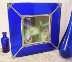 Cobalt Ornate 5 x 5 Square Picture Frame by MoreThanColors on Etsy, $55.00