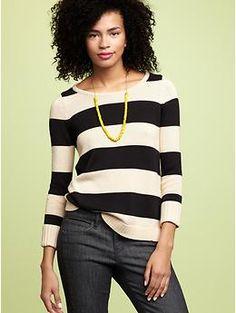 Perfect striped sweater.