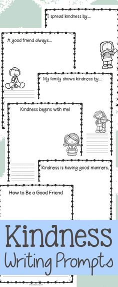 Kindness writing prompts for kids kindergarten your children will love worksheets act of worksheet school ideas Activities For Kindergarten Children, Kindergarten Drawing, Bullying Activities, Kindergarten Writing Prompts, Kindness Activities, Social Skills Activities, Homeschool Kindergarten, Teaching Writing, Kindergarten Worksheets
