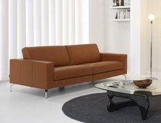 Sofa modelo Abarth en piel espesorada – SI DIVANI