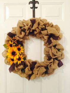 Fun fall sunflower wreath