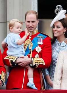 Prince George has makes his first appearance on the Buckingham Palace Balcony, as his mum, Kate, was making her first public appearance since giving birth to Princess Charlotte
