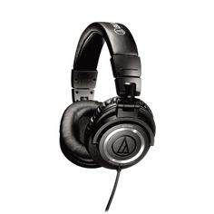With the ATH-M50 professional studio monitor headphones, Audio-Technica has achieved an exceptionally accurate response and long-wearing listening comfort. Designed especially for professional monitoring and mixing, these studiophones feature an efficient collapsible design for space-saving portability and storage.