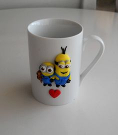 Hey, I found this really awesome Etsy listing at https://www.etsy.com/listing/251766856/minion-friends-ceramic-cup-mug-polymer
