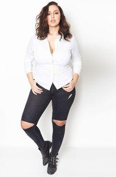 Plus Size Essential Button Down Collared Blouse - Plus Size Fashion