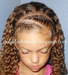 Crown parts (Goldilocks*n*Me) Mixed Kids Hairstyles, Cute Little Girl Hairstyles, Baby Girl Hairstyles, Natural Hairstyles For Kids, Pretty Hairstyles, Natural Hair Styles, Long Hair Styles, Ethnic Hairstyles, School Hairstyles