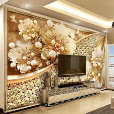 Cheap tv background, Buy Directly from China Suppliers:Custom Photo Wallpaper Embossed Gold Jewelry Flower Mural European Style Living Room TV Background Wall Painting Luxury Decor 3d Wallpaper For Walls, Cheap Wallpaper, Wallpaper Pictures, Photo Wallpaper, Custom Wallpaper, Adhesive Wallpaper, Peel And Stick Wallpaper, Flower Mural, Living Room Tv
