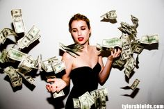 emma roberts by Tyler Shields money to blow for me.