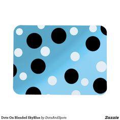 Dots On Blended SkyBlue Rectangular Photo Magnet