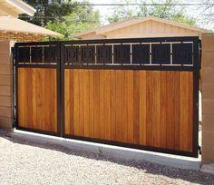 Front Gate Design, Main Gate Design, Door Gate Design, House Gate Design, Fence Design, Front Yard Fence, Pool Fence, Backyard Fences, Fenced In Yard