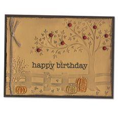 Fall Happy Birthday Card