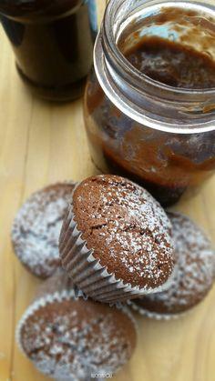 Bezglutenowe muffiny z powidłami śliwkowymi