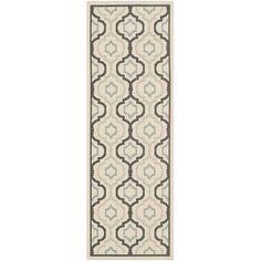 House of Hampton Malin Beige/Black Indoor/Outdoor Area Rug Rug Size:
