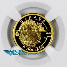 2013 Canada 1/10 Oz Gold $5 Wolf NGC PF70 UC ER Proof 70 Ultra Cameo Early Releases     Just released by the Royal Canadian Mint, the 3rd coin in the O Canada series! Low mintage of only 4,000!
