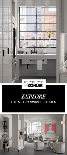 Compact and efficient, modern and streamlined - explore this hardworking black and white kitchen space.