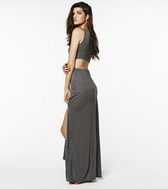 Turn heads in this sexy cut out back maxi dress!