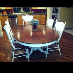 Refinished table & chairs.. would be perfect for my kitchen table