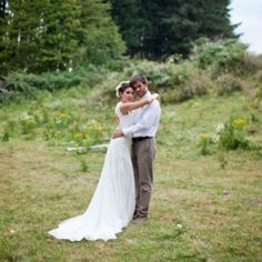 A breathtaking outdoor ranch inspired wedding shoot. Gorgeous location + beautiful open back gown= a to die for shoot!
