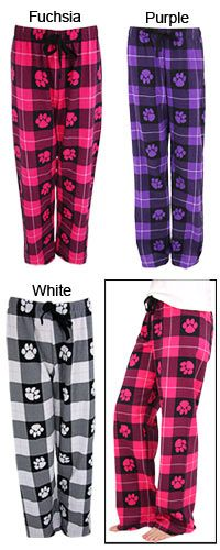 Flannel Paw Lounge Pants at The Animal Rescue Site. These fund 28 bowls of food for shelter animals in need!