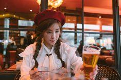 Pink Panda, Kpop Girls, Winter Hats, Park, Celebrities, Instagram Posts, Outfits, Inspiration, Collection