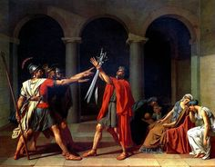 http://www.francegid.com/gallery/louvre/0586.jpg, The Oath of the Horati, Neo-Classical iconic painting of pre-French Revolution