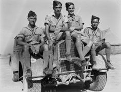 Members of 331 Wing, #RCAF, in North Africa (undated photo). PHOTO: DND
