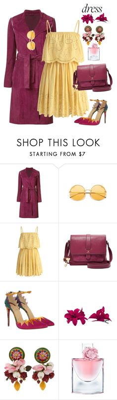 """""""Easy Outfitting: Throw-and-Go-Dresses"""" by yinggao ❤ liked on Polyvore featuring ZAC Zac Posen, Chicwish, FOSSIL, Christian Louboutin, Carole, Dolce&Gabbana, Lancôme, polyvoreatitbest and easydresses"""
