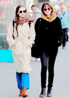 """» Dakota Johnson and her friend in West Village, New York City on March 11, 2015. """