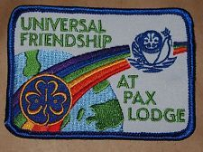 Girl Guides Badge Patch UK Universal Friendship at PAX LODGE Rainbow