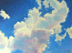 Glowing Clouds 24x18 Original Oil Painting by Sue Gallo  Just gorgeous.