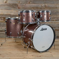 Ludwig 12/13/16/22 4pc Hollywood Drum Kit Burgundy Sparkle 1967 USED