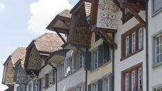 The town of beautiful gables - Aarau switzerland Most Beautiful Cities, Medieval Fantasy, Big Ben, Switzerland, Multi Story Building, Exterior, City, Places, Homes