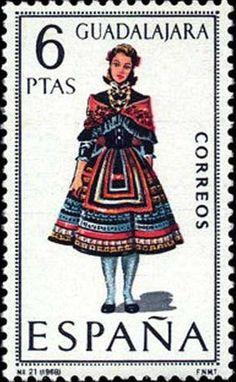 Stamp: Regional Costumes - Guadalajara (Spain) (Regional Costumes)