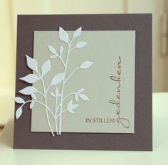 Blütenstempel: Trauerkarte No. 2