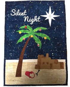 Quilt Kit, Wall Hanging, Wall Quilt, Tropical, Christmas Quilt, Palm Tree, Sand Castle, Jerusalem, Christmas Star, FULL KIT