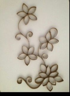 TP roll wall decor.                                                                                                                                                                                 More